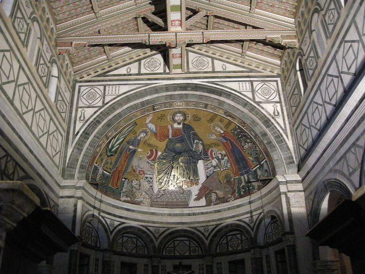 San miniato, mosaico nel catino absidale 01 - Category:San Miniato al Monte (Florence) - Interior - Wikimedia Commons