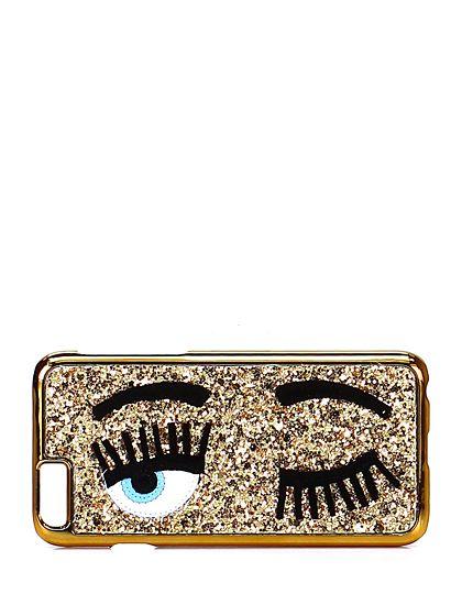 Chiara Ferragni - Accessori - Accessori - Cover per cellulare iPhone 6 con glitter. - ORO - € 35.00