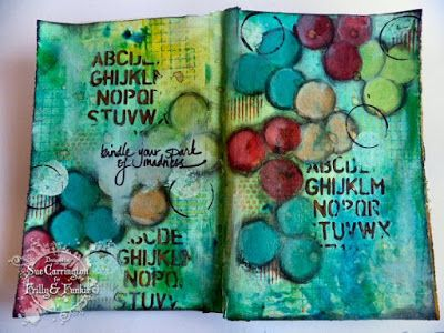 Art Journal - Sue Carrington http://www.stampingsuestyle.com/2015/09/touch-of-gold.html