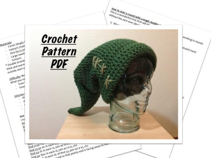 Crochet Stitches Legend : Link hat PATTERN, Legend of Zelda, handmade crochet, child size. $5.00 ...