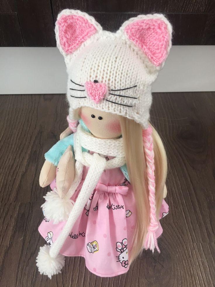 Купить Кукла интерьерная Кетти - большеножка, текстильная кукла, интерьерная…