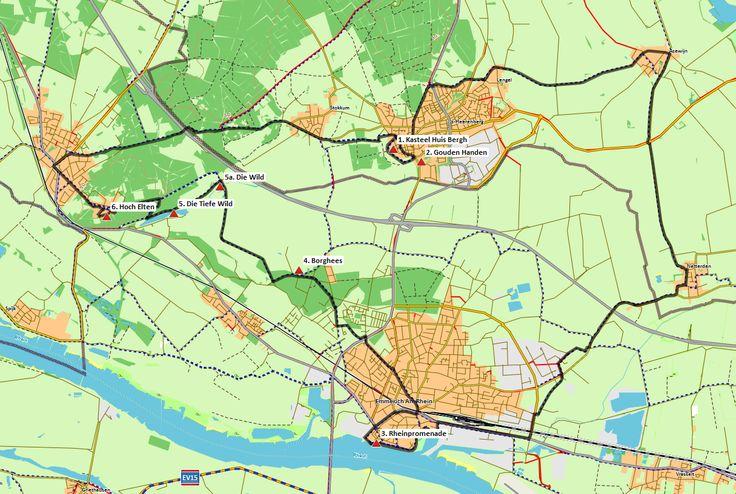's-Heerenberg - Emmerich - Elten (36 km) # Een gevarieerde GPS-fietsroute door het grensgebied. U bezoekt onder andere het karakteristieke Hoch Elten dat is gelegen op de top van de Eltenberg.