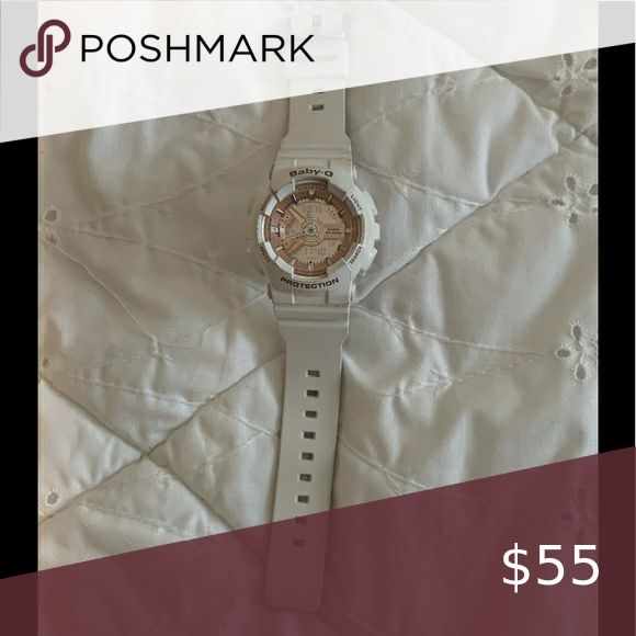 Any g shock. White and rose gold Baby g shock watch. White and rose gold. Needs battery G-Shock ...