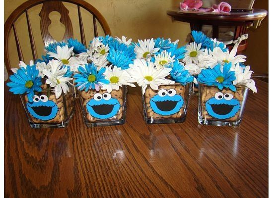 Cookie monster centerpiece crafts pinterest