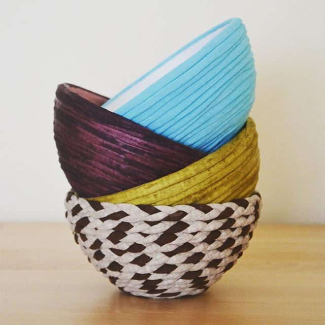 "Colors from our bowls ""Whisper from Nature"" Collection.  Each one, with their own mood and symbology that will help you bring personality and positive vibes to your home. ❤️ www.jinjaritual.com/shop  #interiorandhome #ecodesign #jinjaritual #jinja #textilewaste #homedecor #sustainableliving"