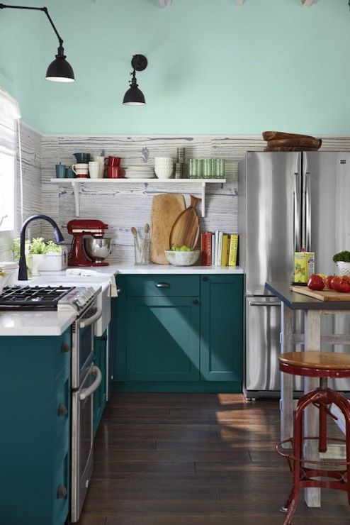 152 best kitchens images on pinterest kitchens my house Benjamin moore country green