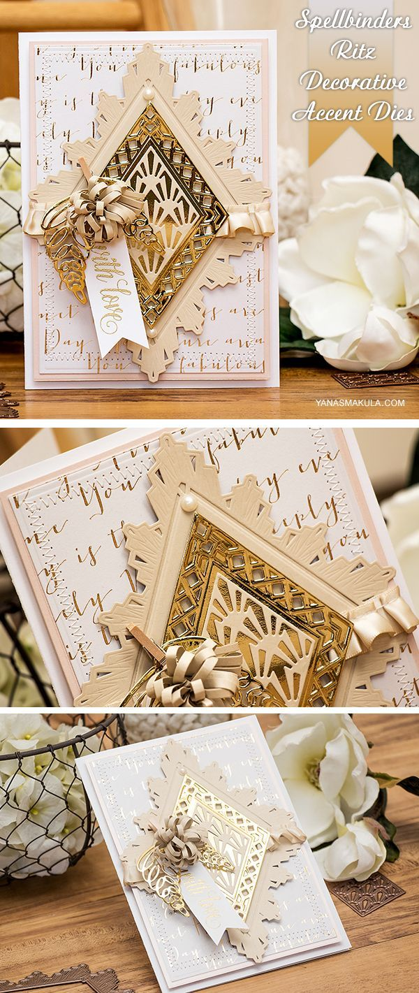 best cards  astoria decorative accent die images on pinterest  - create beautiful dimensional cards using spellbinders ritz decorativeaccents and loopy roll flowers dies to