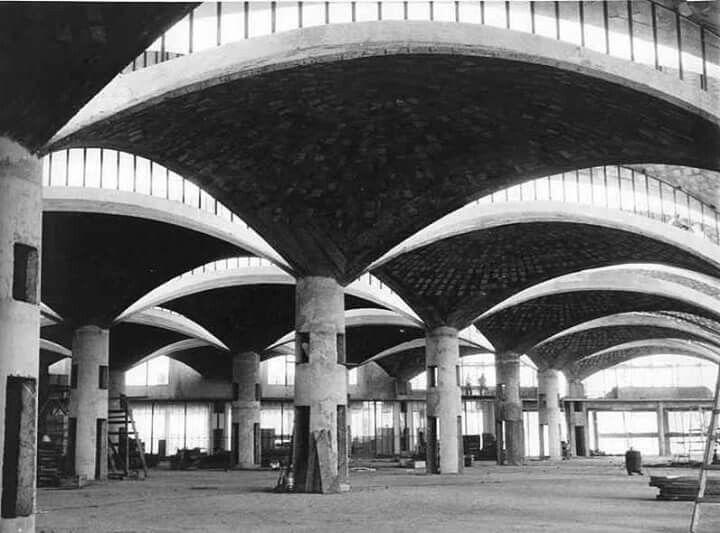 Olivetti factory, São Paulo...under construction... 1957-59 Marco Zanuso 1916-2001