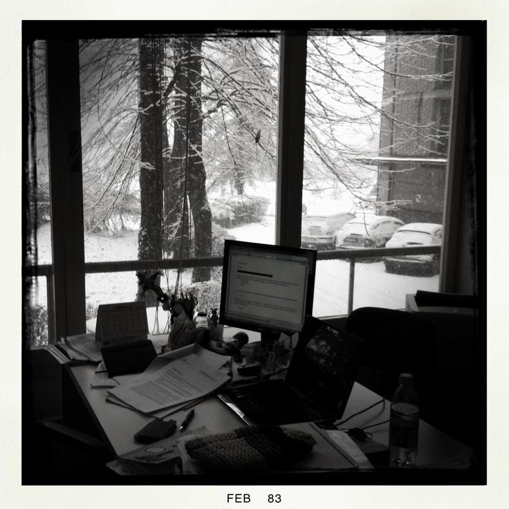 Office in the snow- wonderfull