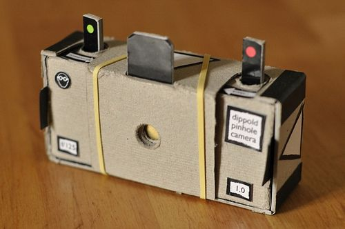 A free template and instructions for this understated but brilliantly devised pinhole camera can be found on crafty photographer @francesocapponi flikr feed.
