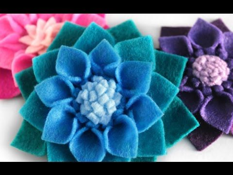 DIY Felt Flowers - No Sew Fabric Flower Tutorial - YouTube