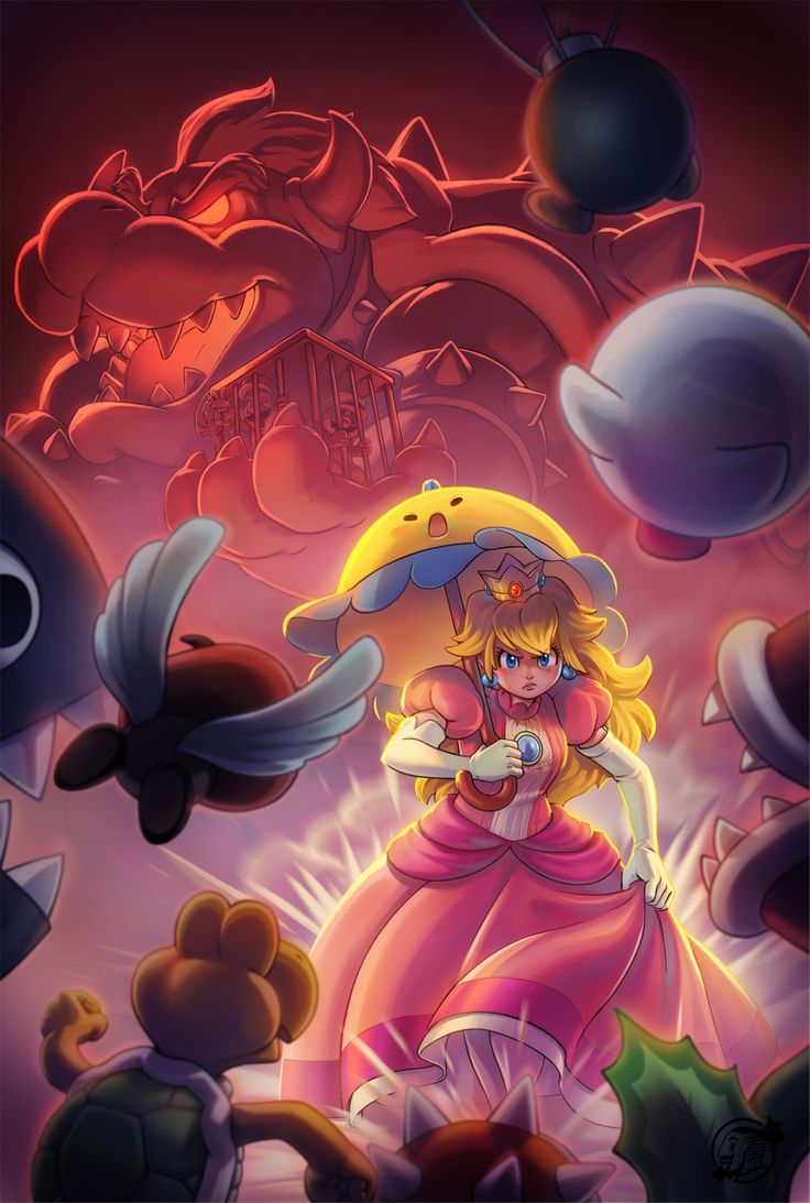 Fanart of this game that i didn't see much people talking about. Super Princess Peach DS. an Awesome game! play it was amazing, and i know at the same time it have a bad woman representation, and...