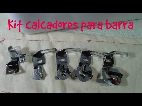 KIT CALCADORES PARA BARRA - 1/4, 3/8, 5/8 e 7/8 - FADIMEX | Máquinas de Costura, Acessórios para costura, Calcadores, Mesa de costura, Bobinas, Cortadores e Tesouras.