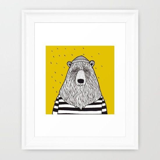 sailor bear  society6.com/MiraMallius