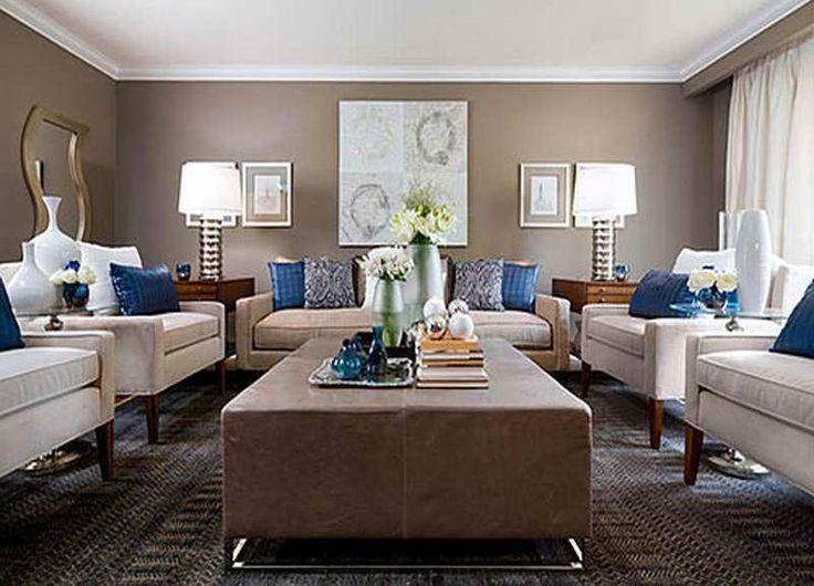 Jane Lockhart Beige Blue Living Room