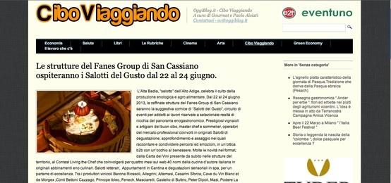 I Salotti del Gusto su Oggi Blog http://cv.oggiblog.it/le-strutture-del-fanes-group-di-san-cassiano-ospiteranno-i-salotti-del-gusto-dal-22-al-24-giugno/