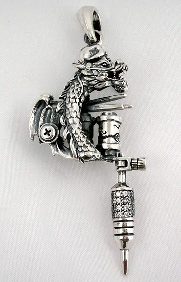 dragon tattoo machine pendent