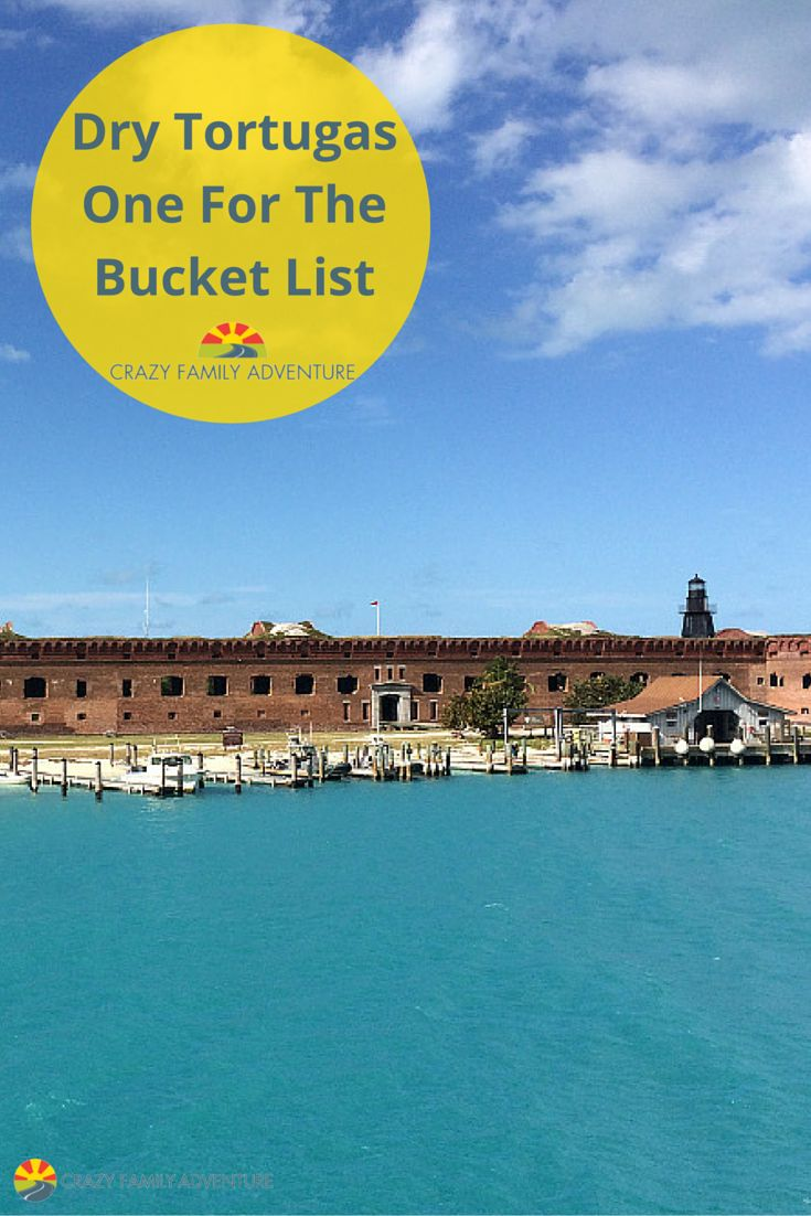 Dry Tortugas National Park is an amazing island that is 70 miles off of Key West.