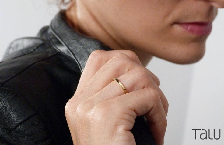 A personal favourite from my Etsy shop https://www.etsy.com/listing/524094839/simple-gold-ring-14k-gold-thin-wedding