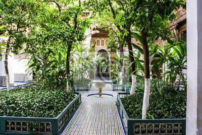 Palais de bahia marrakesz na obrazach myloview. Najlepszej jakości fototapety, naklejki, obrazy, plakaty. Chcesz ozdobić swój dom? Tylko z myloview!