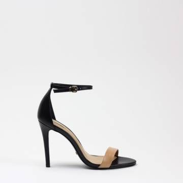 SCHUTZ 13870268 Light Wood/Black  Leather Heels Women Shoes