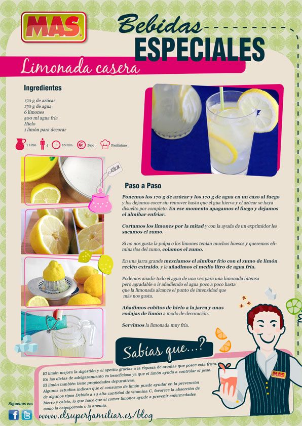 Deliciosa #limonada para hacer en casa #Receta #InfoReceta #Gastronomia