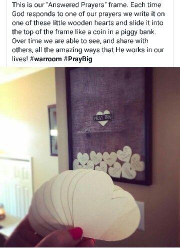 Answered prayers frame