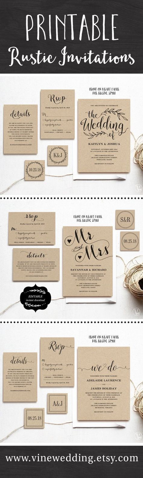 diy wedding invitations best photos - wedding diy  - cuteweddingideas.com