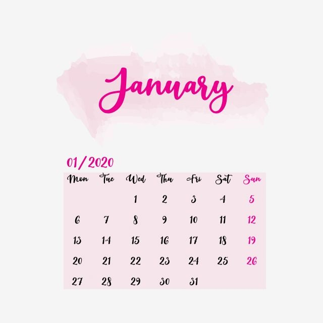 January Calendar 2020 Clipart Vector Png Element Calendrier 2020 Janvier Fevrier Png And Vector With Transparent Background For Free Download January Calendar Clip Art Calendar 2020