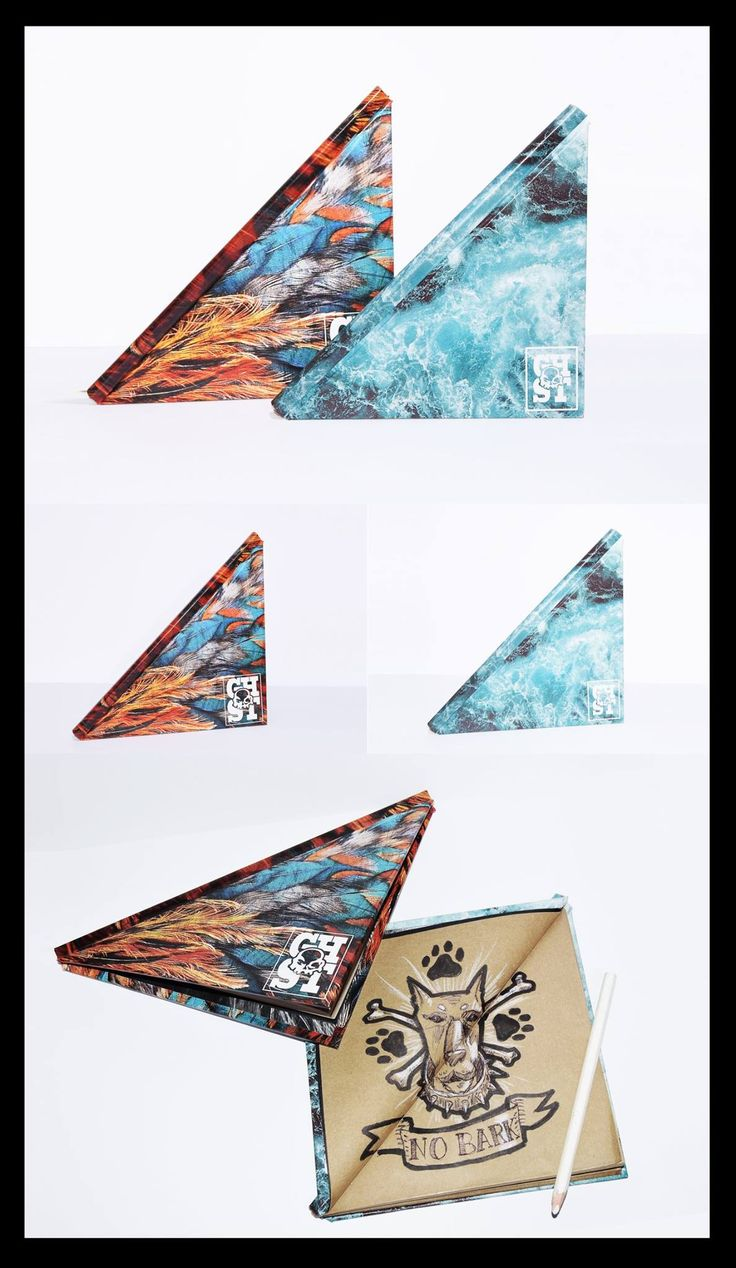 GCC custom triangle sketchbook. Handmade with great care for a special kind of design