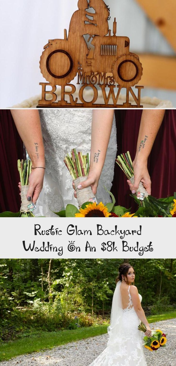 Rustic Glam Backyard Wedding | The Budget Savvy Bride | Wine bridesmaid dresses from David's Bridal | burgundy wedding | sunflower bridal bouquet #AfricanBridesmaidDresses #MixAndMatchBridesmaidDresses #BridesmaidDressesTurquoise #BridesmaidDressesWinter #ModestBridesmaidDresses