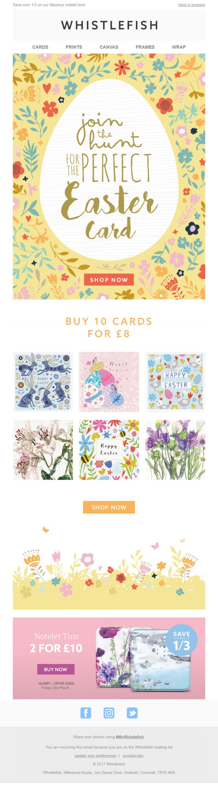 123 best easter emails images on pinterest easter email from whistlefish emailmarketing email marketing easter gifts retail negle Gallery