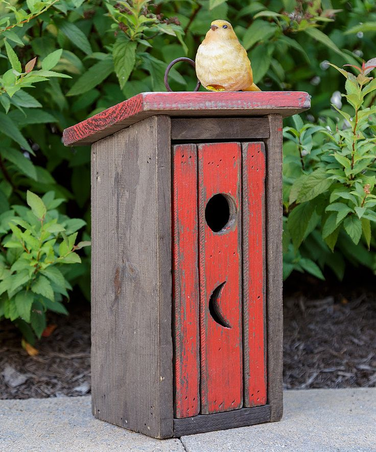 Love this Birdhouse Outhouse by Your Heart's Delight on #zulily! #zulilyfinds