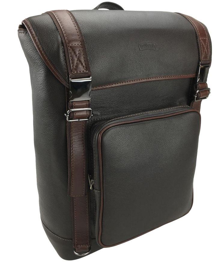 Genuine Leather Laptop Backpack 7133 (Dark Brown)