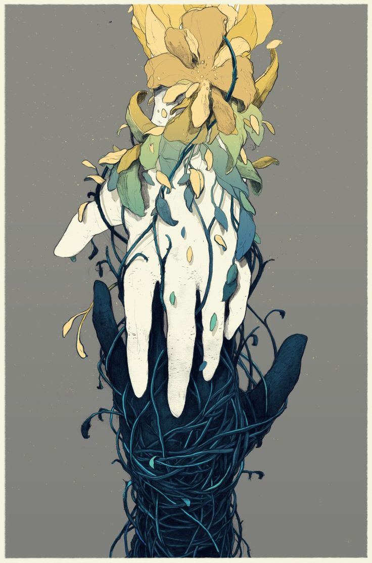 It creeped on her whole body and inside of her, mingling and entangling her withered branches, it  gave her roots again to be able to bloom again. #storyIdea