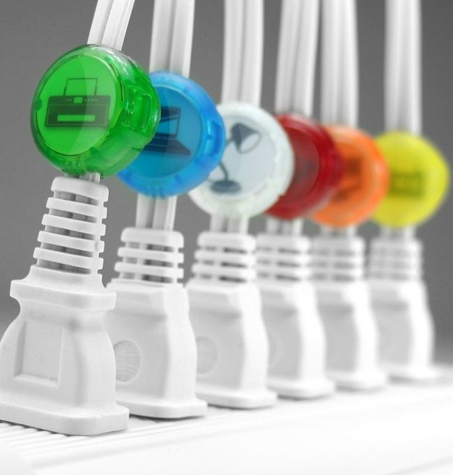 Cables clips.  20cute little things for your workplace that will brighten your day