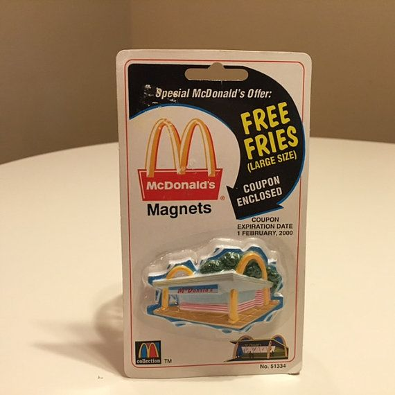 McDonald's Vintage Magnet Free Fries by TheTeaberryCottage on Etsy