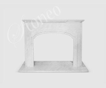 Royal - Kominek klasyczny, marmur Hunan White