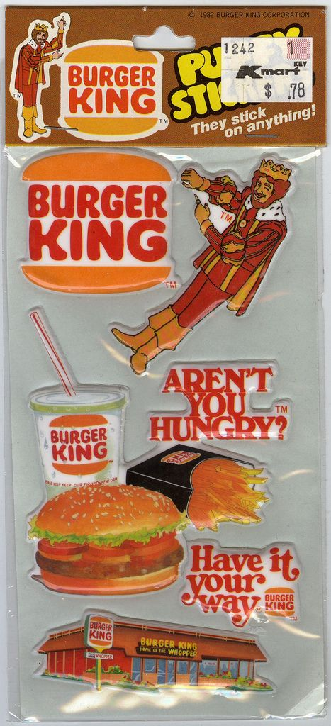 Burger King Puffy Stickers by Waffle Whiffer, via Flickr