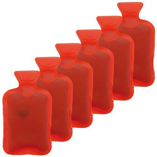 Calentadores de conjunto de 6 calentadores de manos Heizpad Firebag - bolsa de agua caliente en rojo