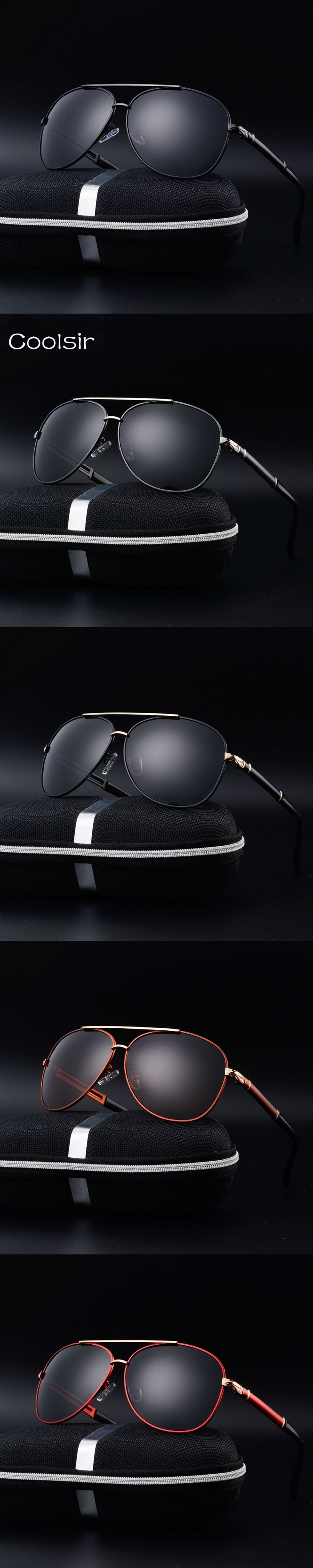 Coolsir fashion brand design polarized aviator sunglasses Men/Women classic Driving Travel Retro Eyewear lentes de sol hombre
