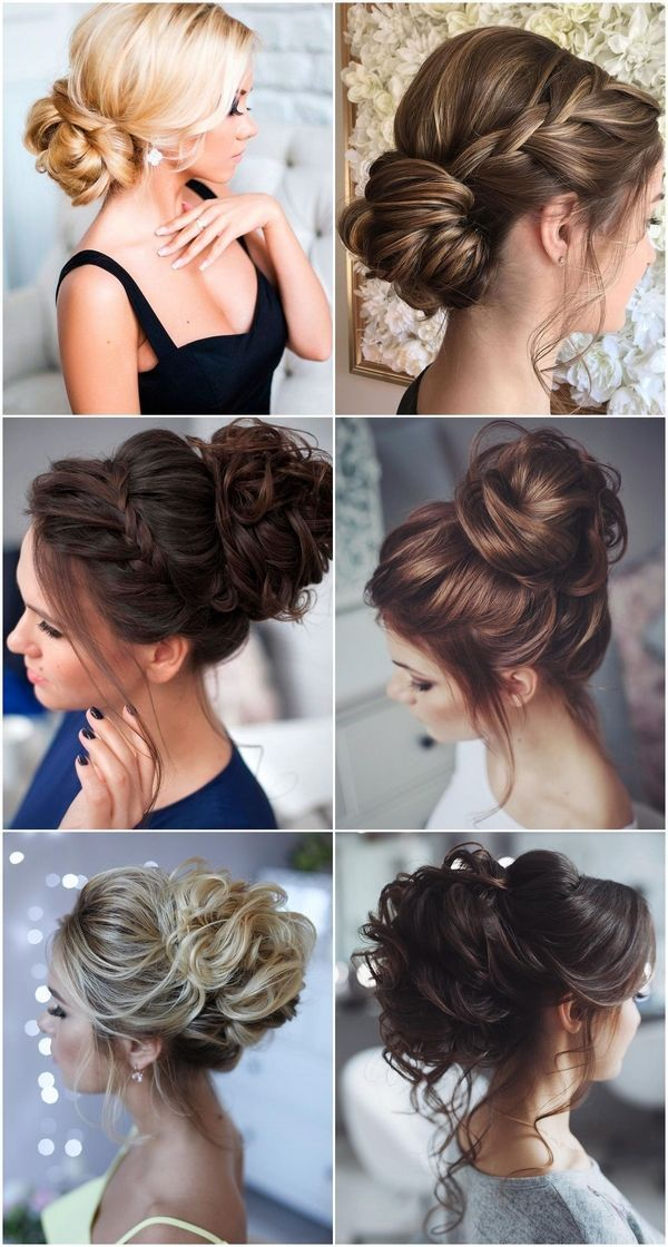 A great compilation of different bridal hairstyles. Depending on the motto of the wedding and the hairstyle should be chosen appropriately. Here you get one