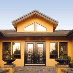 Tuscan yellow earth tones exterior home paint exterior for Tuscan home exterior colors