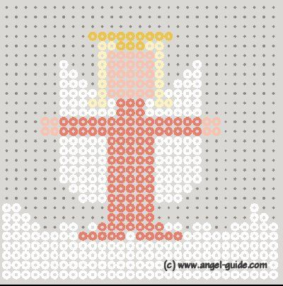 Perler Bead Angel Patterns, Cute Bead Angel for Christmas Angel Gifts and Decor