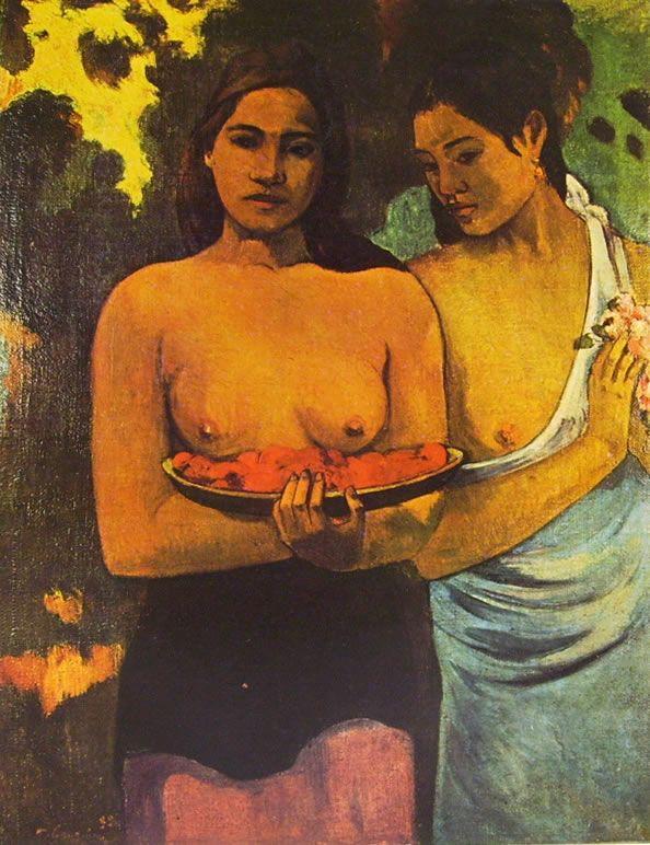 Due donne tahitiane, olio su tela, New York Metropolitan Museum, New York