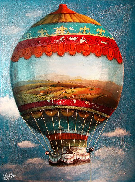 My painting reproduction / print *balloon* by RobertRomanowicz on Etsy