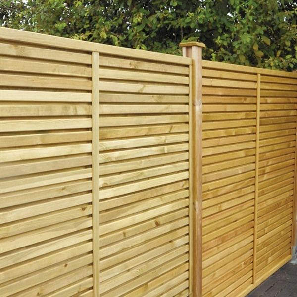 Grange Contemporary Vogue Wooden Fence Panels   6ft