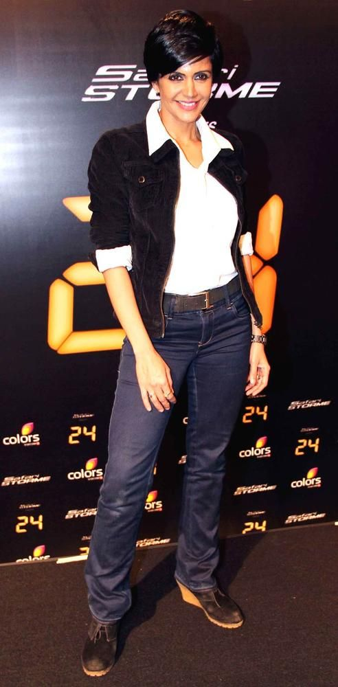 Mandira Bedi at a press conference for '24' #Bollywood #Style #Fashion