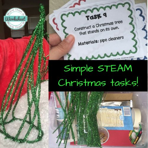 Simple STEM challenges that can be completed with basic materials. 4 free task cards included in the post! Great for teachers who are hesitant to try STEM challenges.