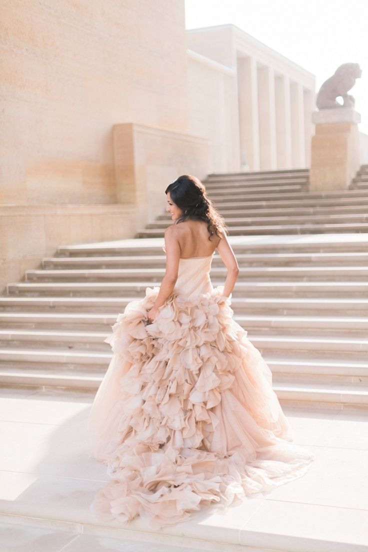 14 best rose gold wedding theme images on pinterest rose for Pink and gold wedding dress